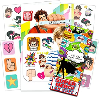 Wreck It Ralph Temporary Tattoos Party Pack -- 75 Premium Temporary Tattoos and Specialty Door Hanger (Wreck It Ralph Party Supplies)