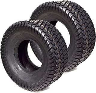 2PK 4PLY Tubeless 16x6.50-8 Turf Tires Fits on John Deere, Kubota, Toro, Scag, Wright, Exmark Lawn Mower Tractor Rider