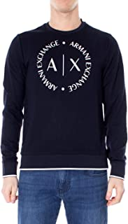 Luxury Fashion | Armani Exchange Mens 8NZM87Z9N1ZBLUE Blue Sweatshirt | Fall Winter 19