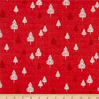 Andover Makower UK Scandi 2019 Scandi Squares Red Fabric Fabric by the Yard
