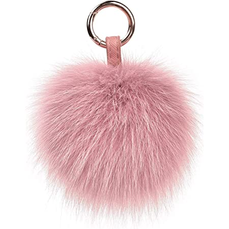 Furry Pom Pom Ball Key Chain Ring Keyring Keychain Women Bag Pendant Decor 67UK