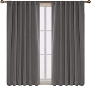 Deconovo Rod Pocket and Back Tab Curtains Blackout Curtains Room Darkening Blinds Thermal..