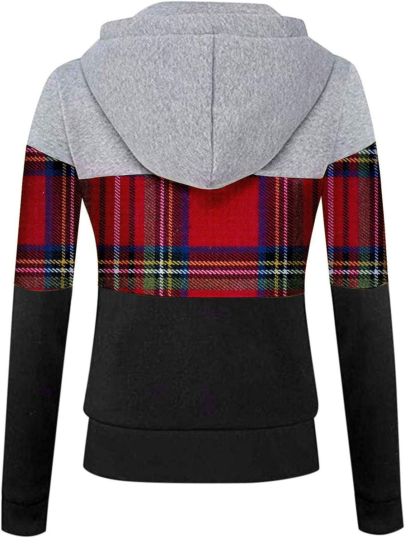 Fannyfuny Hoodie Pullover Damen Herbst Winter Kapuzenpullover Sweatshirt Winterpullover Langarm Jacke mit Kapuze Mantel Tops Outwear 02wine