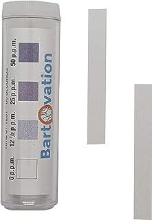 Restaurant Sanitizer Iodine Test Paper, 0-50 ppm [Vial of 100 Paper Strips]