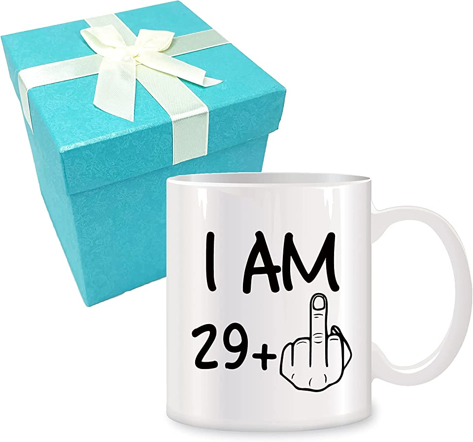 30th Birthday Gifts for Women Men Novelty Coffee Mug 11 oz - Gag Party Idea as a Joke Celebration Thirty Adult Birthday Presents-30 Years Old Happy Bday Gifts Funny White Ceramic Coffee Mug Cup