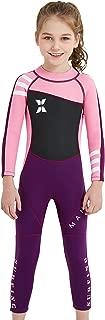 DIVE&SAIL Kids Wetsuit Swimsuit 2.5mm Neoprene Boy Girl Long Sleeve Diving Suit Swimwear