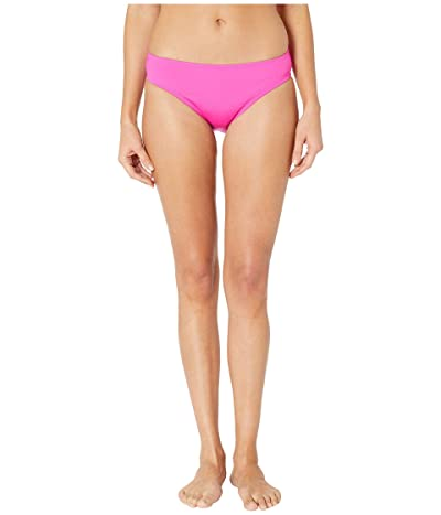 Kenneth Cole Solid Mid Bikini Bottoms (Passionfruit) Women