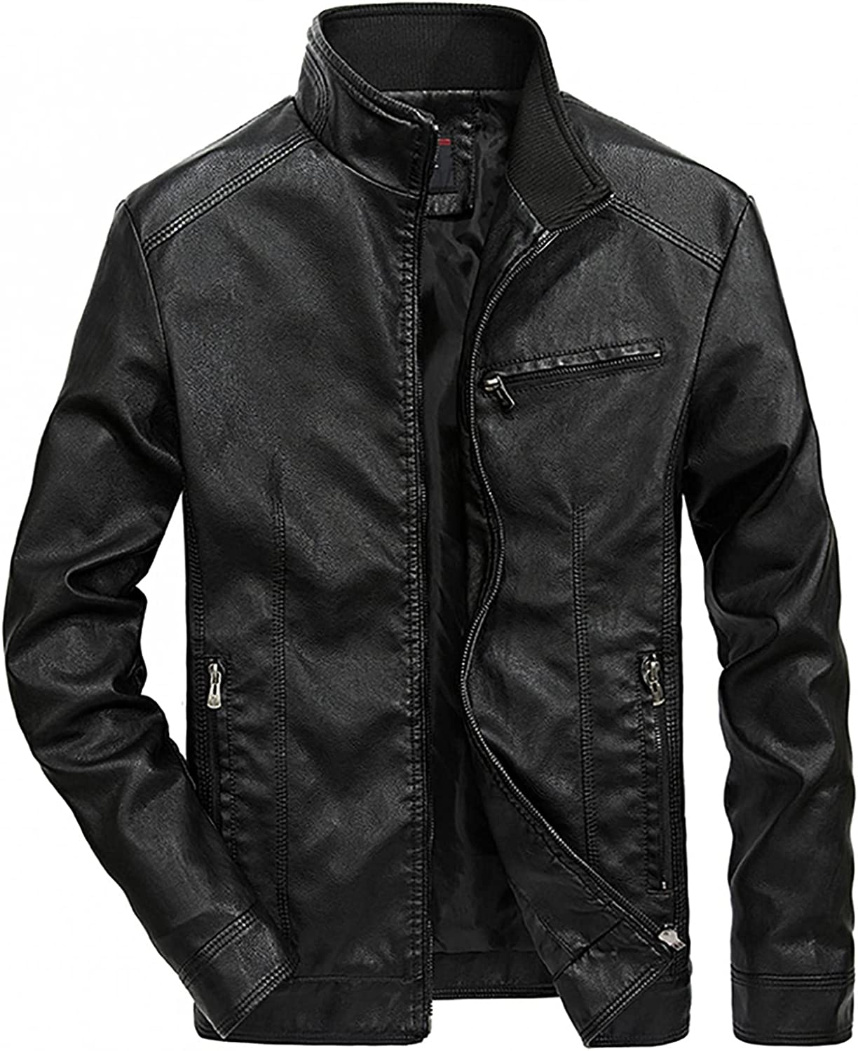 Easy-to-use Men's Cool Stylish Jacket Coat Casual Fit Stand Zipper Slim Challenge the lowest price of Japan Coll