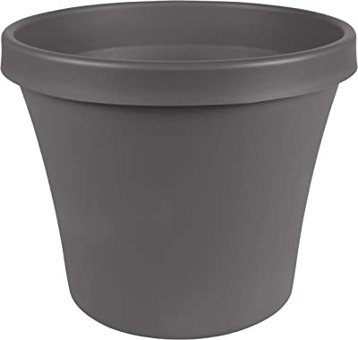 "Bloem TR24908 Terra Pot Planter 24"", Charcoal Gray"