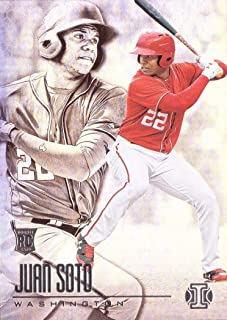 2018 Panini Chronicles Illusions Baseball #20 Juan Soto Rookie Card