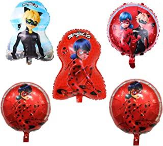 FunBalloons 5pcs Miraculous Ladybug Bouquet of Balloons, Includes 5 balloons