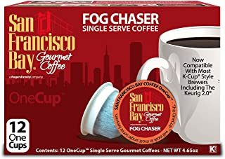 San Francisco Bay OneCup, Fog Chaser, 12 Single Serve Coffees (Pack of 3)
