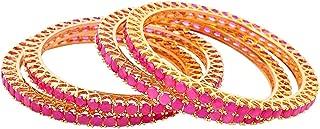 ruby studded bangles