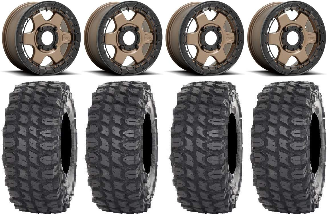 Cheap mail order specialty store Bundle - 9 Items: Tampa Mall Fuel Block Beadlock Wheels Bronze 15