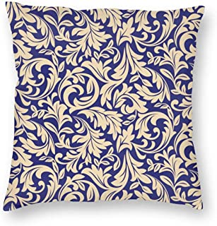 Maltworm Toper Pillow Covers 26x26 Floral Pattern. Wallpaper Baroque, Damask. Seamless Vector Background 26x26 inch