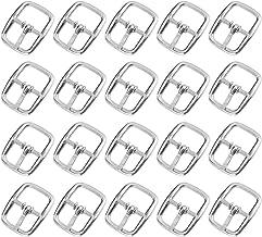 Healifty 50 Stuks Metalen Schuifgesp Zinklegering Middenstang Tri-Glide Singels Riem Portemonnee Roller Pin Gespen Ring Ha...