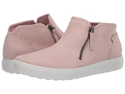 ECCO Soft 7 Zip Bootie (Rose Dust Cow Nubuck) Women