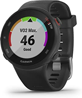 Garmin Forerunner 45,  42mm Easy-to-use GPS Running Watch with Coach Free Training Plan Support,  Black