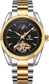 Tevise Casual Watch Analog Stainless Steel Band for Men, Gold, 795B-SGB