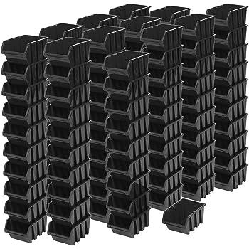 60 pieza inneineander Cajas de 0,5 litros, almacenamiento apilables Cajas apilables Visión en caja de almacenamiento (11,5 x 8 x 6 cm: Amazon.es: Bricolaje y herramientas