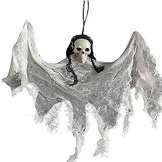 Hanging Skeleton Ghost Halloween Decorations Halloween Horrible Floating Prop Skull or Indoor/Outdoor/Yard Carrying Hangin...