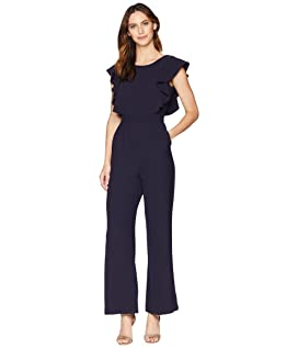 Short Sleeve Jumpsuit with Ruffle Detail