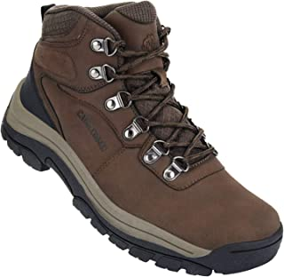 CAMEL CROWN Mens Waterproof Hiking Boots Mid-Top Non-Slip Insulated Work Boots Leather Mountaining Boots for Trekking Trails Walking Light Brown