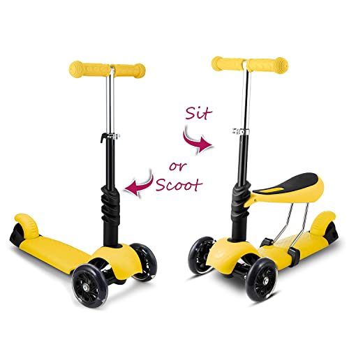 Hikole Scooter Kids Toddlers With Seat