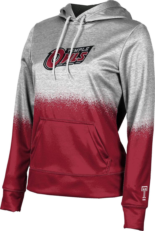 ProSphere Temple University Girls' Pullover Hoodie, School Spirit Sweatshirt (Spray Over)