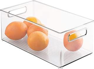 InterDesign Refrigerator or Freezer Storage Bin – Food Organizer Container for Kitchen - Deep Drawer, Clear
