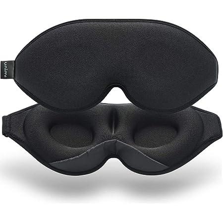 Unimi Masque de sommeil et masque pour les yeux améliorés pour femmes et hommes, masque pour les yeux doux en matériau Lycra profilé 3D, lunettes de sommeil 100% bloquant la lumière pour les voyages