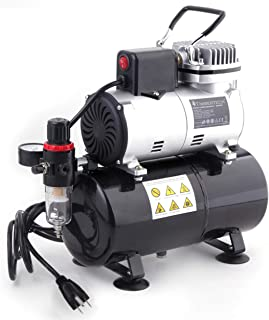TIMBERTECH Professional Upgraded Airbrush Compressor with 3L Tank, ABPST08 Quiet Airbrush Air Compressor with Cool Down Fa...