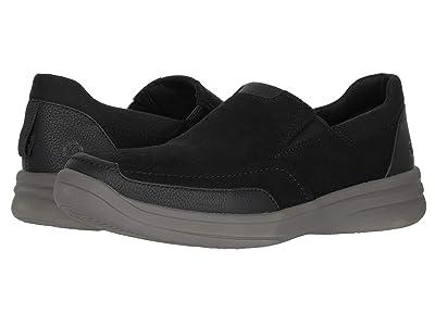 Clarks Step Stroll Edge (Black Leather) Men