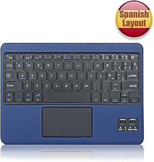 CoastaCloud- QWERTY Español Delgado Teclado Bluetooth con una Función de Multi- touchpad y batería Recargable para Cualquier Windows/Android OS Tablet (Azul Oscuro)