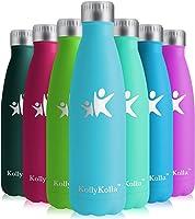KollyKolla Gourde Isotherme Enfant Acier Inoxydable Sport Bouteille d'eau Reutilisable Gourdes sans BPA INOX Etanche...