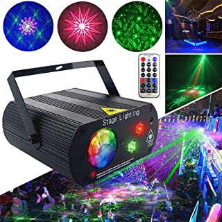 Party Lights Disco Ball Lights Stage DJ Water Wave Lights 2 Lens 1 RGB Ball XinChen With Remote Control Sound Activate LED Projector Christmas Decoration Gift Birthday Wedding Thanksgiving KTV Bar