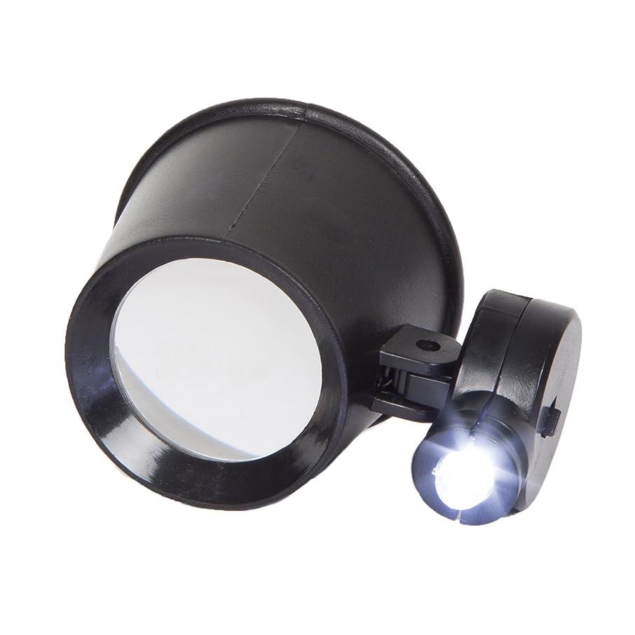 Stalwart Jewelers Eye Loupe Magnifier with Adjustable LED