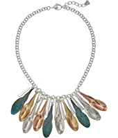 Robert Lee Morris - Shaky Patina Mixed Metal Sculptural Petal Frontal Necklace