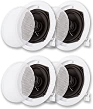 Acoustic Audio R191 in Ceiling/in Wall Speaker 2 Pair Pack 2 Way Home Theater 800 Watt R191-2PR