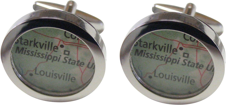 Mississippi State University Map Cufflinks