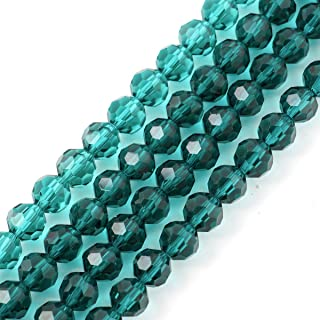 5 Strands Top Quality Czech Round Crystal Beads 6mm Emerald Green (~450-475pcs) for Jewelry Craft Making Supplies CC2R624