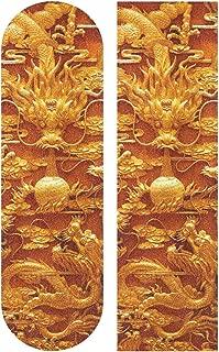 Nigbin Chinese Lucky Golden Dragon Skateboard Grip Tape Sheet Bubble Free Longboard Griptape Graphic 33