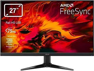 "Acer Nitro QG1 Monitor, 69 cm 27"" W, 16:9 FHD ZeroFrame, FreeSync 1ms(VRB), 300nits VA LED VGA 2xHDMI(1.4), Euro/UK EMEA M..."