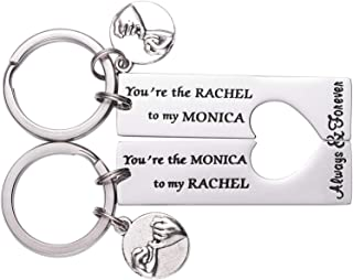 LParkin Monica and Rachel Best Friend Keychain Frienship Friends TV Show - You are The Monica to My Rachel You are The Rac...