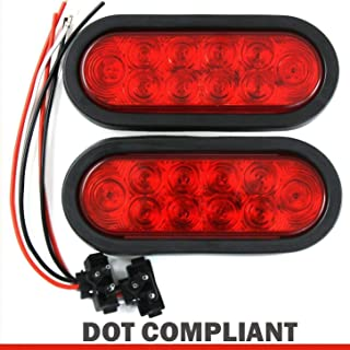 (2) Red Trailer Truck LED Sealed RED 6