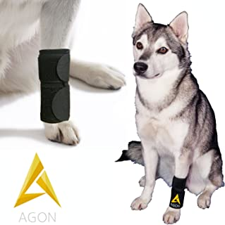 Agon Dog Canine Front Leg Brace Paw Compression Wraps with Protects Wounds Brace Heals and Prevents Injuries and Sprains Helps with Loss of Stability Caused by Arthritis
