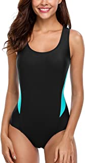 ATTRACO Women's One Piece Swimsuits Athletic Swimsuit Training Bathing Suit