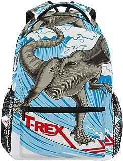 T-REX - Mochila escolar de gran capacidad con diseño de dinosaurio para surf, mochila de viaje informal para niños, adultos, adolescentes, mujeres, hombres