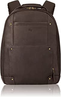 Solo Reade Vintage Leather Backpack. Fully Padded 15.6-Inch Laptop Compartment. Men'S Or Women'S Backpack for Travel Office Bag, School Bag - Espresso