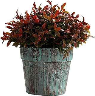 PAKUES-QO Décor De Plantes Artificielles en Pot Plantes Artificielles Mini Herbe en Pot pour La Décoration Intérieure De F...